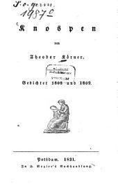 Knospen: Gedichtet 1808 und 1809