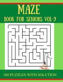 MAZE Book for Seniors Vol-9