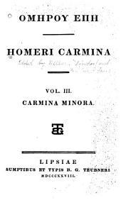 Homeri Hymni Epigrammata Fragmenta et Batrachomyomachia: ad optimarum editionum fidem recensuit et notis