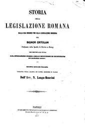 Storia della legislazione romana dalla sua origine fino alla legislazione moderna ... Ortolan