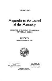 Journal of the Assembly, Legislature of the State of California