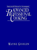 Advanced Professional Cooking Book