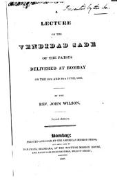 A lecture on the Vendidad Sade of the Parsis delivered at Bombay on the 19. and 26. June, 1833