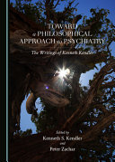 Toward a Philosophical Approach to Psychiatry