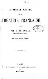 Catalogue annuel de la librairie française: Volumes7à9