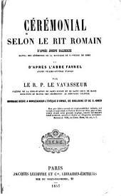 Cérémonial selon le rit romain