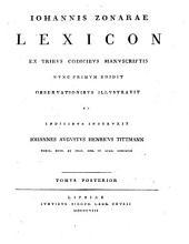 Lexica ex codicibus manuscriptis nunc primum edita observationibus illustrata (a Johanne-Augusto-Henrico Tittmann et Godofredo Hermanno).