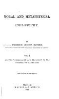 Ancient philosophy and the first to the thirteenth centuries PDF