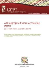 A disaggregated social accounting matrix: 2010/11 for policy analysis in Egypt