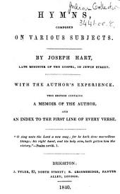 Hymns ... With the author's experience, etc