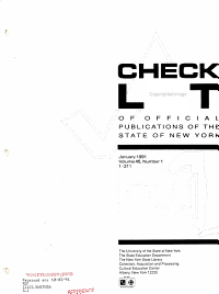 A Checklist of Official Publications of the State of New York PDF