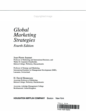 Global Marketing Strategies PDF