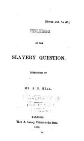 Resolutions on the slavery question