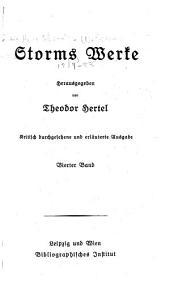 Storms werke: bd. Zur chronik von Grieshuus. Bötjar Basch