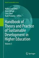 Handbook of Theory and Practice of Sustainable Development in Higher Education PDF
