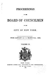Proceedings of the Board of Councilmen of the City of New York: Volume 101