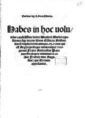 Expositio per decem libros ethicorum Aristotelis
