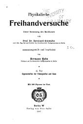 Physikalische freihandversuche, unter benutzung des nachlasses: Band 2