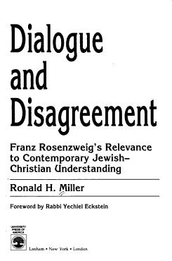 Dialogue and Disagreement PDF
