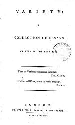 Variety A Collection Of Essays Book PDF
