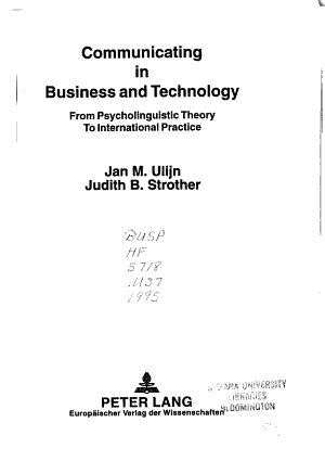 Communicating in Business and Technology PDF