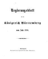 Regierungs-Blatt für das Königreich Württemberg