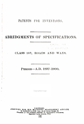 Patents for Inventions. Abridgments of Specifications: Volume 23