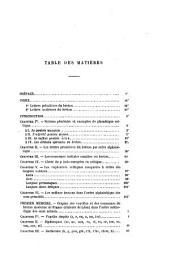 Études grammaticales sur les langues celtiques: Partie1