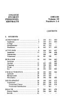 College Student Personnel Abstracts PDF
