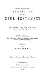 Kritisch exegetischer kommentar über das Neue Testament ...