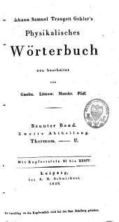 Johann Samuel Traugott Gehler's physikalisches Wörterbuch: Band 15