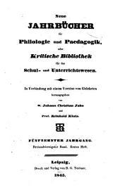 Neue Jahrbücher für Philologie und Paedagogik: Band 43