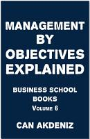 Management By Objectives Explained PDF