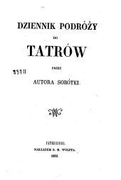 Dziennik podróży do Tatrów