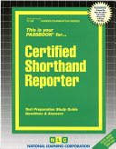 Certified Shorthand Reporter