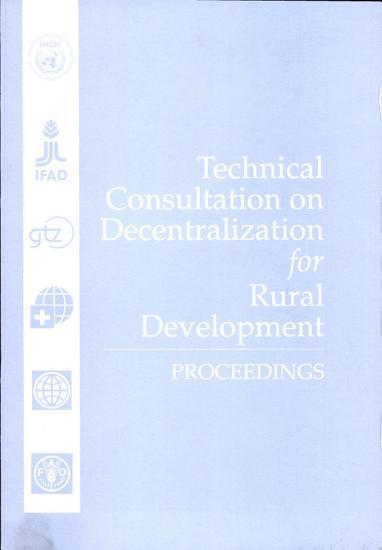 Technical Consultation on Decentralization for Rural Development PDF