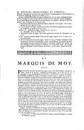 Histoire généalogique et chronologique de la maison royale de France, des pairs, grands officiers de la couronne & de la maison du Roy, & des anciens barons du royaume ...