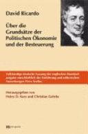 ber die Grunds  tze der politischen   konomie und der Besteuerung PDF
