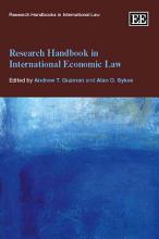 Research Handbook in International Economic Law PDF