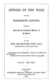 Annals of the Wars of the Eighteenth Century, Compiled from the Most Authentic Histories of the Period: 1783-1795