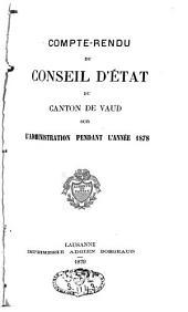 Compte rendu du Conseil d'Etat