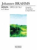 Sonata Op. 120 No. 1 in F Minor