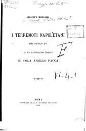 I terremoti napoletani del secolo XVI ed un manoscritto inedito di Cola Anello Pacca