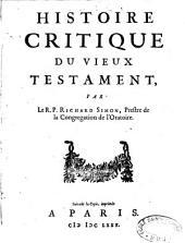 Histoire critique du Vieux Testament