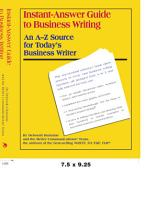 Instant Answer Guide to Business Writing PDF