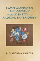 Latin American Philosophy from Identity to Radical Exteriority PDF
