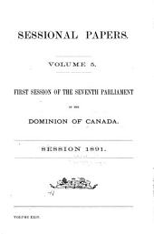 Sessional Papers of the Dominion of Canada: Volume 5