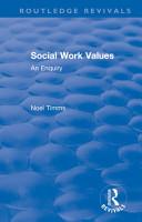 Social Work Values PDF