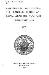 Correction to Pages 293-352 of The Landing Force and Small Arms Instructions, United States Navy, 1907