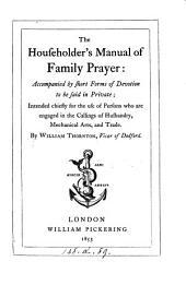 The householder's manual of family prayer